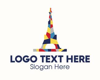 French - Eiffel Tower logo design