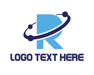 Astrophysicist - Blue Planet R logo design