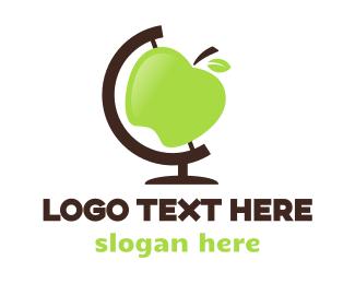 Grocery Store - Apple Globe logo design