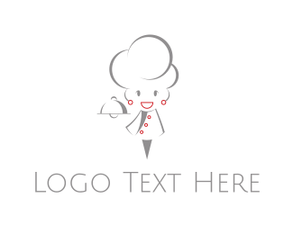 Gourmet - Girl Chef logo design