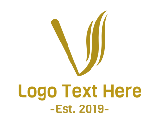 Cigarette - Golden Vape logo design