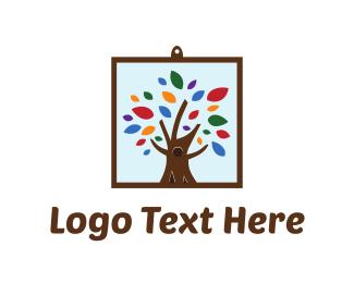 Frame - Framed Tree logo design
