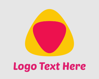 Pick - Yellow Pink Triangles logo design
