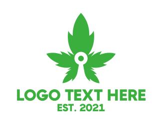 Weed - Cannabis Target  logo design