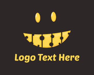 Milk - Cheese Smile logo design