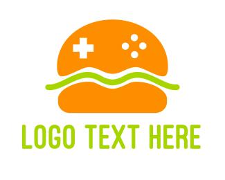 Snack - Burger Gaming logo design