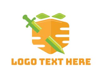 Warrior - Carrot Shield logo design