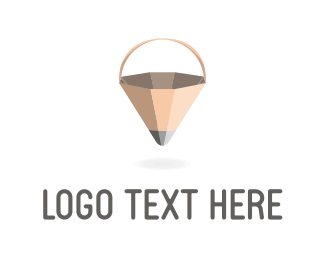 Drawing - Pencil Basket logo design