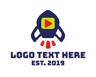 Astronaut - Media Rocket  logo design