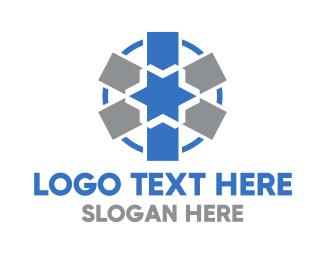 Pharmacist - Blue Medical Asterisk logo design