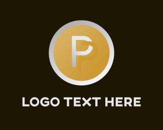 Circle & Letter P  Logo
