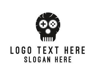 Joystick - Game Skull Logo logo design