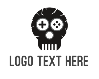 Fortnite - Game Skull Logo logo design