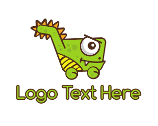 Wix - Dino Shop logo design