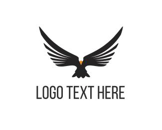 Falcon - Black Eagle logo design
