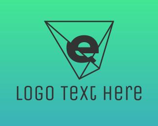 Jewel - Shattered E logo design