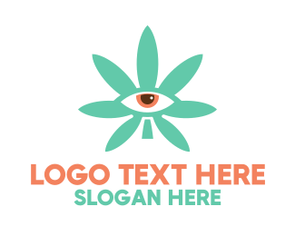 Surveillance - Cannabis Eye logo design
