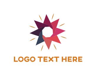 Shine - Flower Star logo design