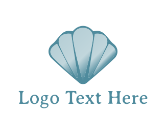 Pearl - Blue Seashell logo design