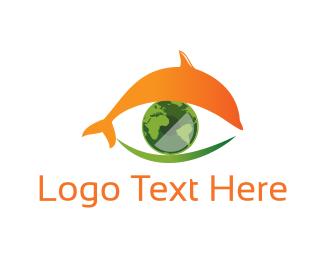 Conservation - Dolphin Eye  logo design