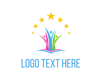 Education - Stars & People logo design