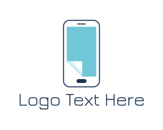 Phone Repair - Paper Phone logo design
