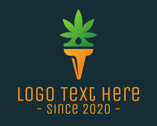 Medical Marijuana - Weed Torch logo design
