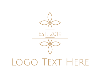 Deli - Minimalist Golden Flowers logo design