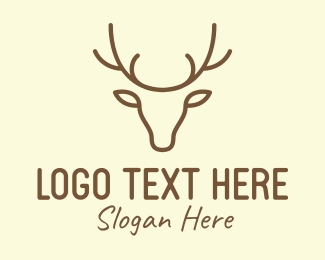 Design Firm - Deer Head Outline logo design