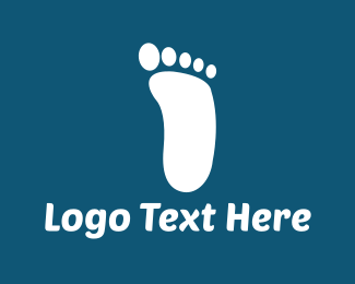 Podiatry - White Footprint logo design