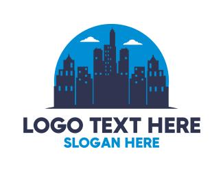 Establishment - Midnight City Silhouette logo design