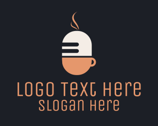 Podcast - Microphone & Cup logo design