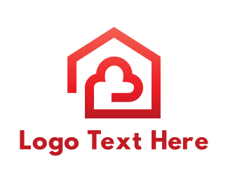 Security - Cloud Home logo design