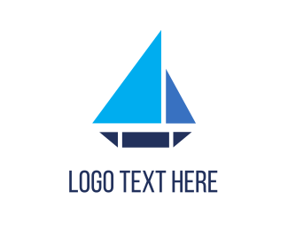 Sailor - Triangle Boat logo design