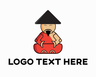 Coach - Asian Monk logo design