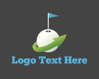 Golf Course - Golf Ball logo design