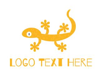 Gecko - Yellow Gecko logo design