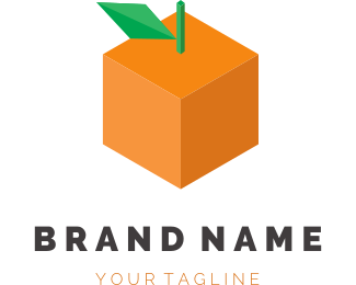 Fruit - Orange Cube logo design