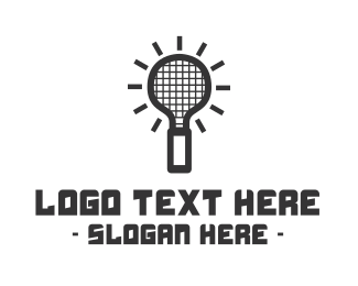 Tennis - Idea Racket logo design