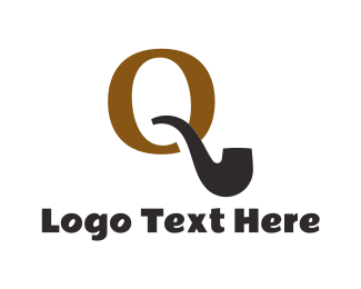 Smoke - Pipe Letter Q logo design