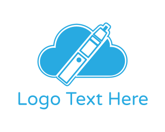 Ejuice - Blue Cloud Vape logo design