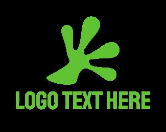 Amphibian - Frog Hand logo design
