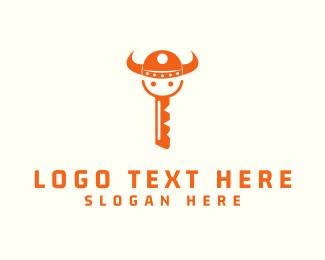 Locksmith - Viking Key logo design