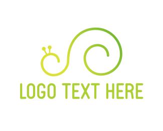 Shell - Green Snail logo design