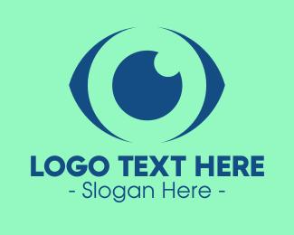 Optician - Blue Abstract Eye logo design