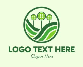 Gardener - Button Farm logo design