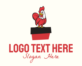 Farm Animal - Cartoon Rooster logo design