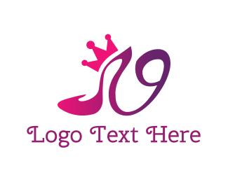 Princess - Shoe Crown logo design