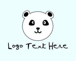 Hand-drawn - Cute Panda  logo design
