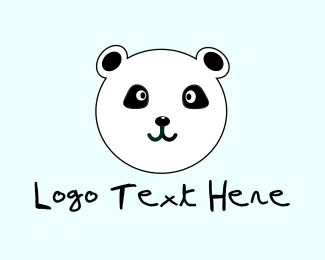 Caricature - Cute Panda  logo design